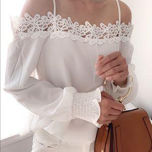 Lace appliqué blouse